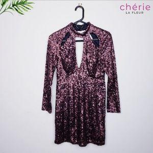 Charlotte Russe Sequin Mini Dress - Medium